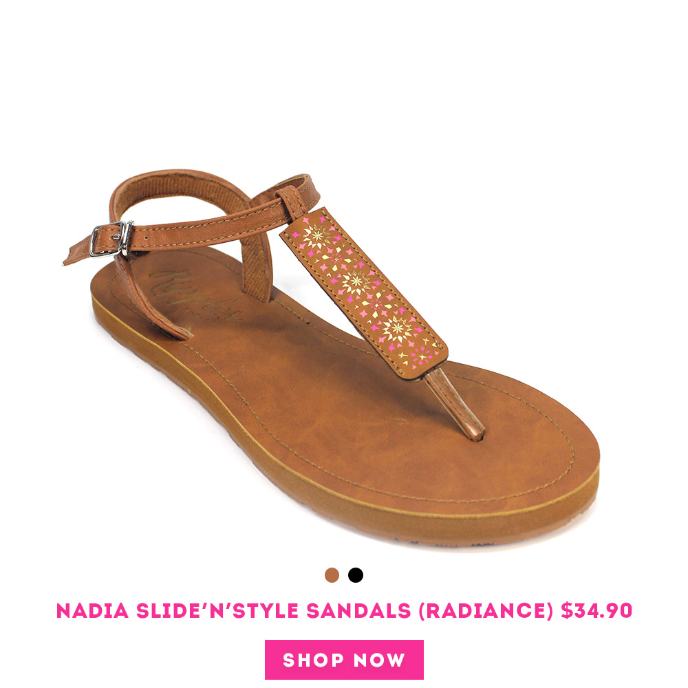 Nadia Slide'N'Style T-Bar Sandals (Radiance)