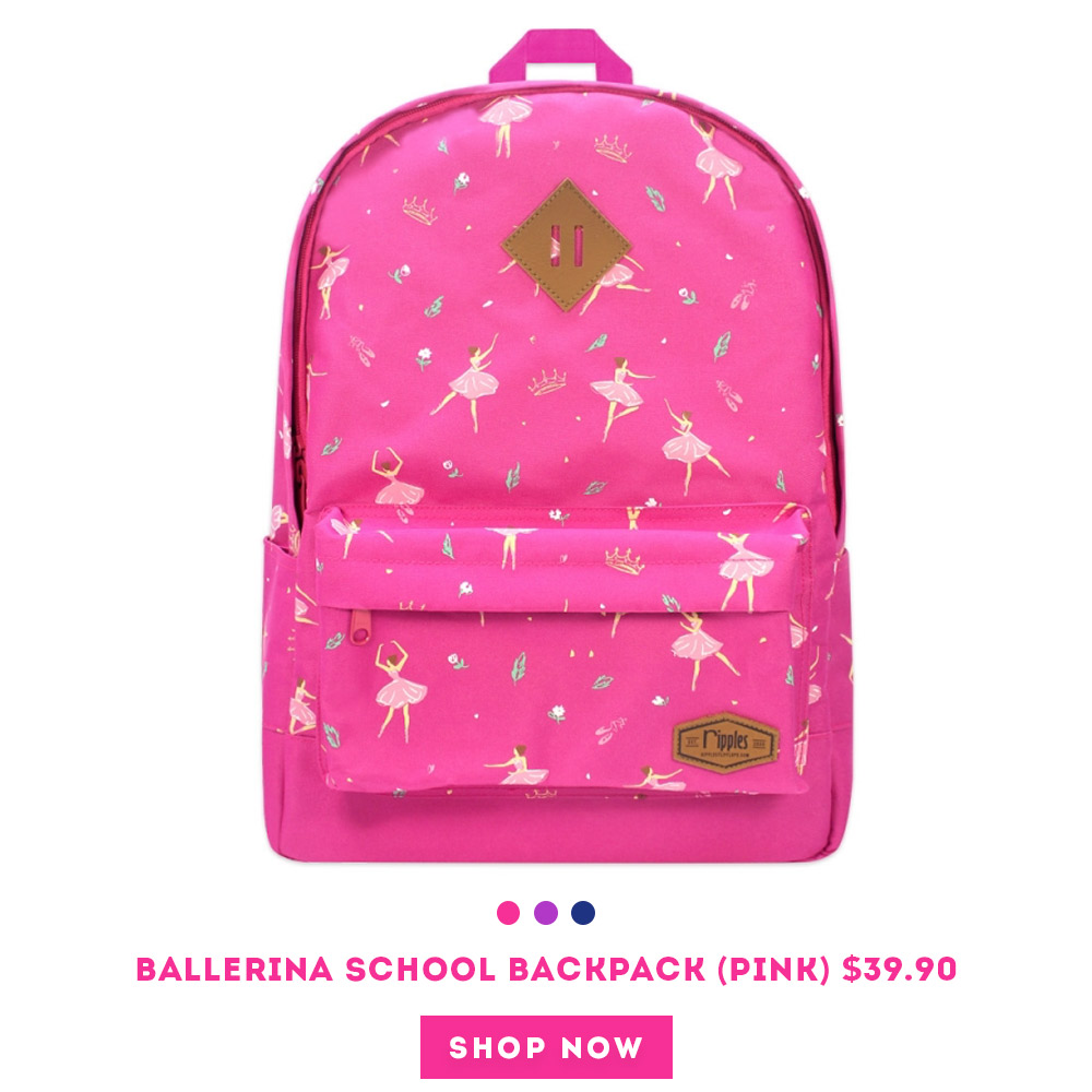 Ballerina School Backpack (Pink)