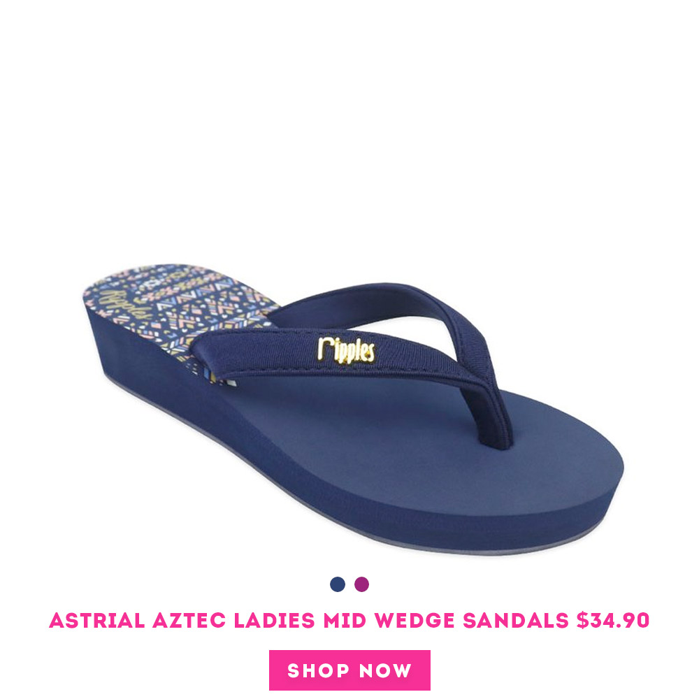 Astrial Aztec Ladies Sandals Mid Wedge