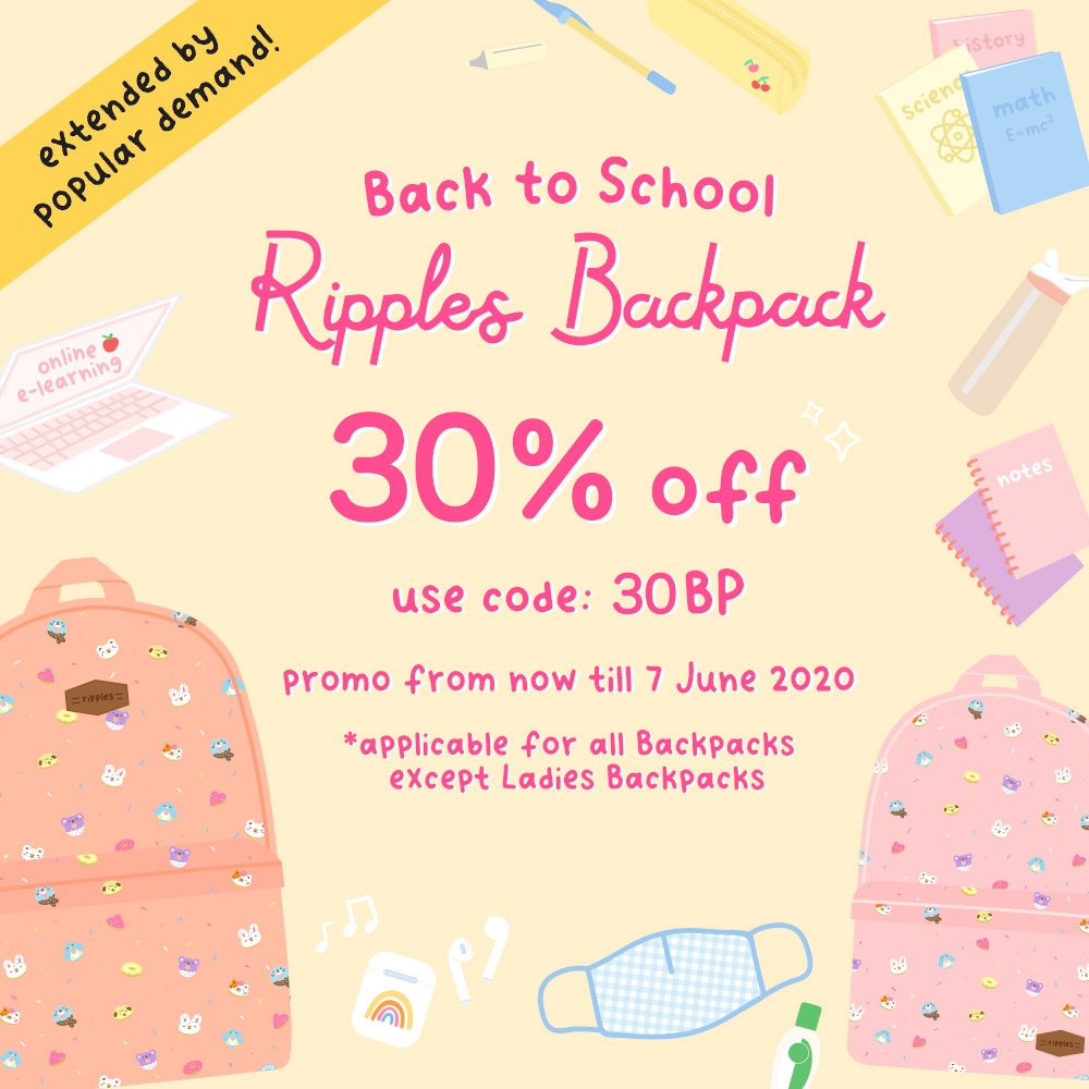 30% off School Backpacks, use code: 30BP