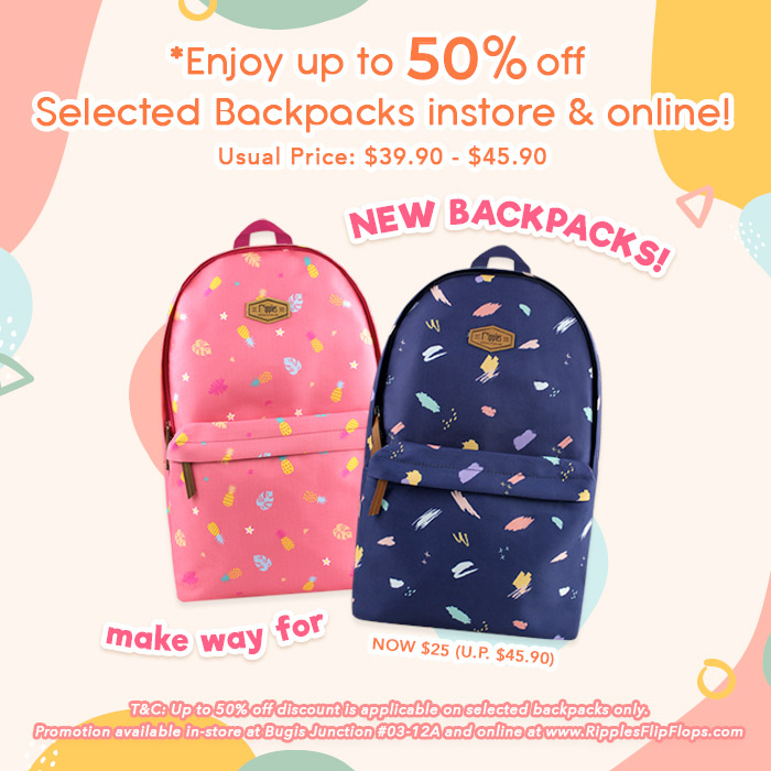 Ripples Backpack Sale