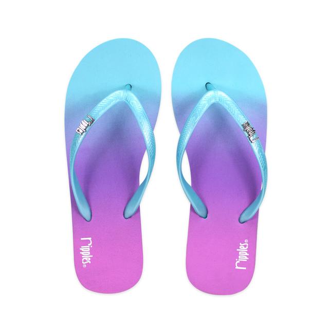 [SALE]  Gradient Ladies Flip Flops (Turquoise)