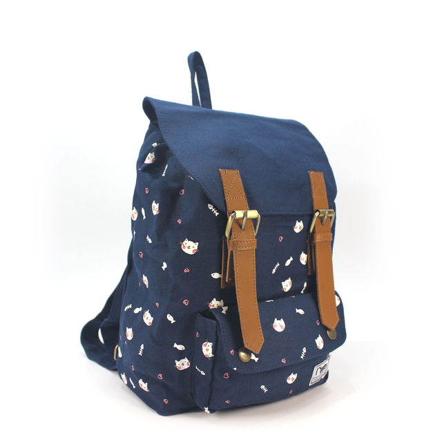 Kittens Ladies Backpack (Navy Blue)