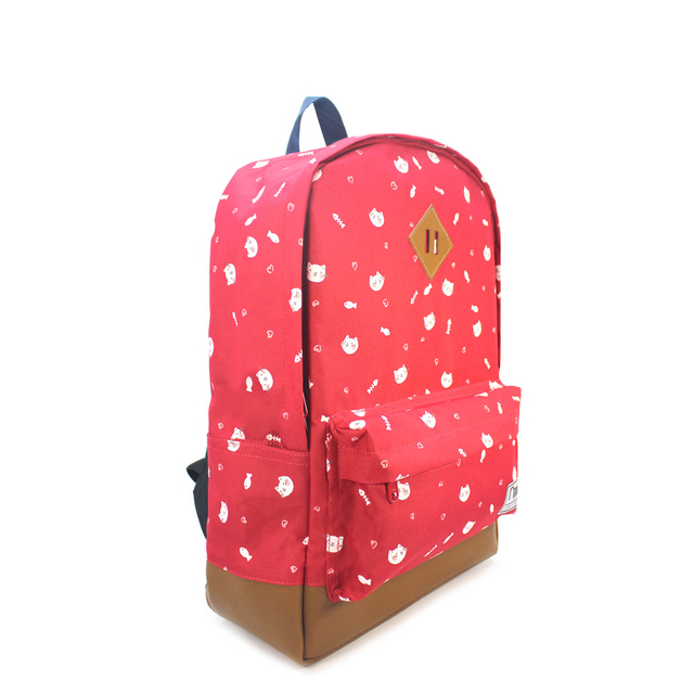 Kittens School Backpack (Red)