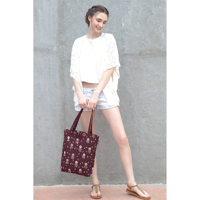 [PROMO] Dreamcatchers Rectangle Tote Bag (Maroon)