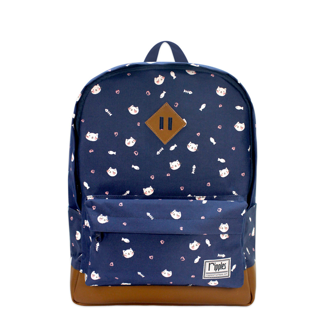 [SALE] Kittens School Backpack (Navy Blue)