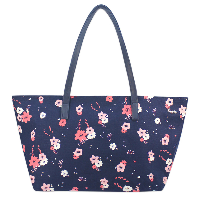 Lyla Florals Handbag (Navy Blue)
