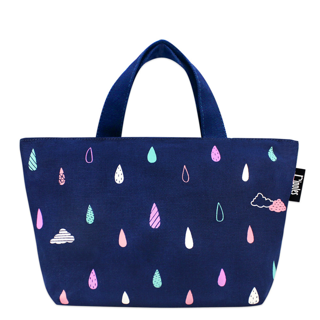 [PROMO]  Raindrops Clouds littletotes (Navy Blue)
