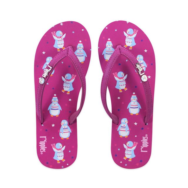 [SALE] Little Penguins Ladies Flip Flops (Berry Purple)