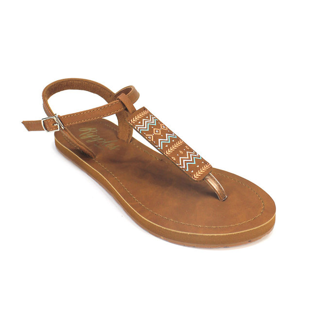 Aztec Slide'N'Style T-Bar Sandals (Multi)