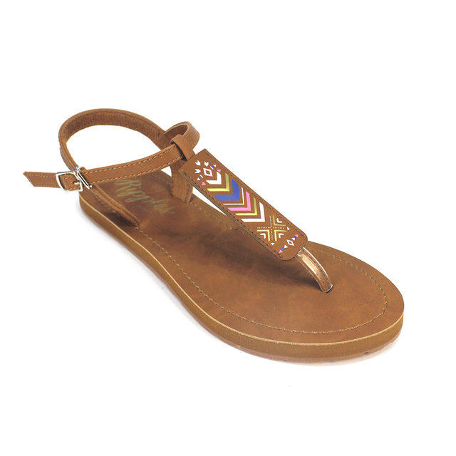 [SALE] Arika Aztec Slide'N'Style T-Bar Sandals (Multi)