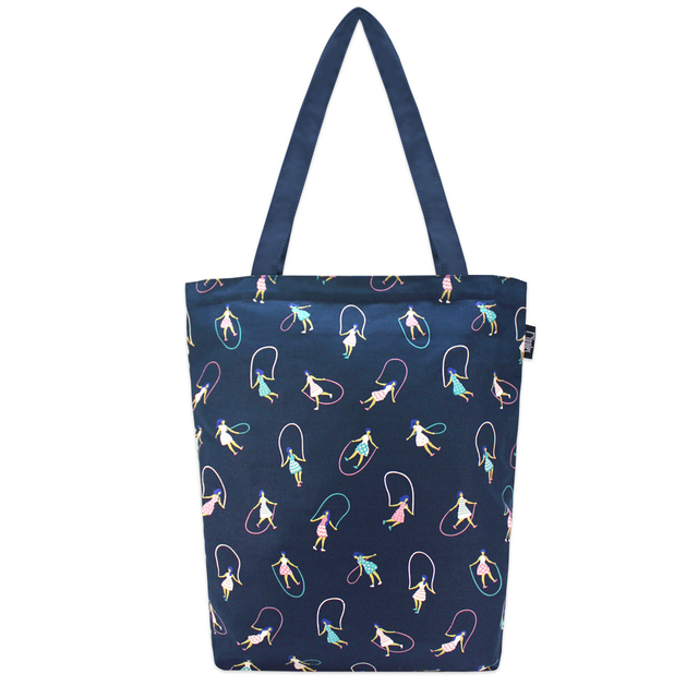 [PROMO] Skipping Girls Rectangle Tote Bag (Navy Blue)