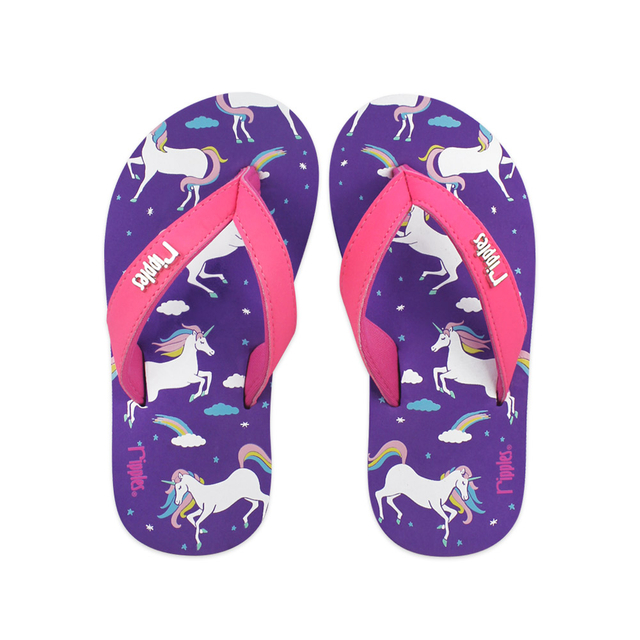 [SALE]  Unicorn Little Kids Flip Flops