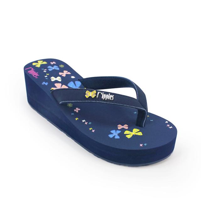 [SALE] Myra Butterfly Ladies Wedges (Navy Blue)