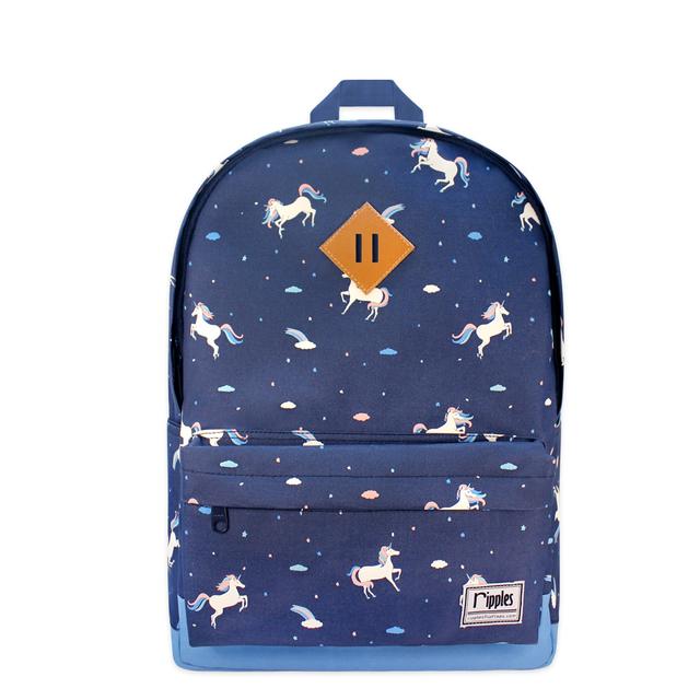 Unicorn School Backpack (Navy Blue)