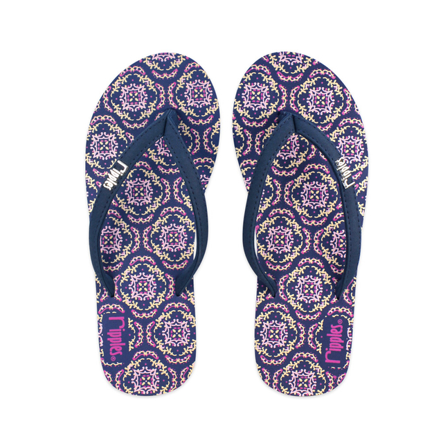 [SALE] Amaris Ladies Flip Flops (Blue Pink)