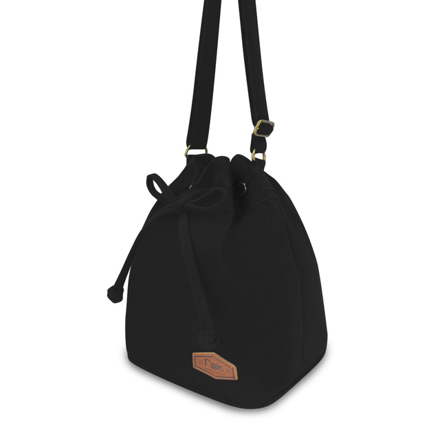[PROMO] Chloe Basic Bucket Sling Bag (Black)