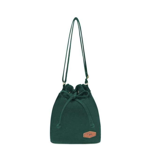 Chloe Basic Bucket Sling Bag (Forest Green)