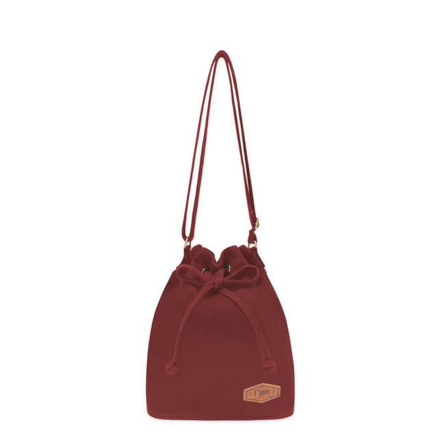 Chloe Basic Bucket Sling Bag (Maroon)