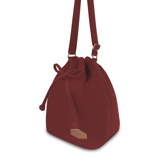 [PROMO] Chloe Basic Bucket Sling Bag (Maroon)