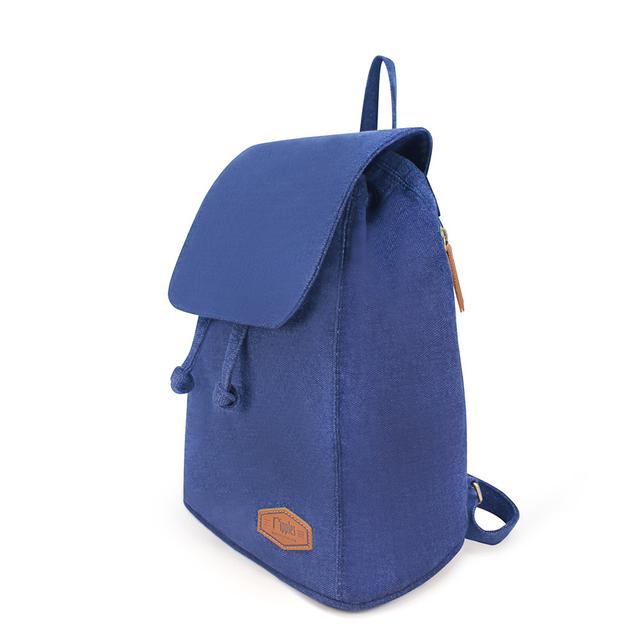 Rayne Basic Ladies Backpack (Mid Blue Wash Denim)