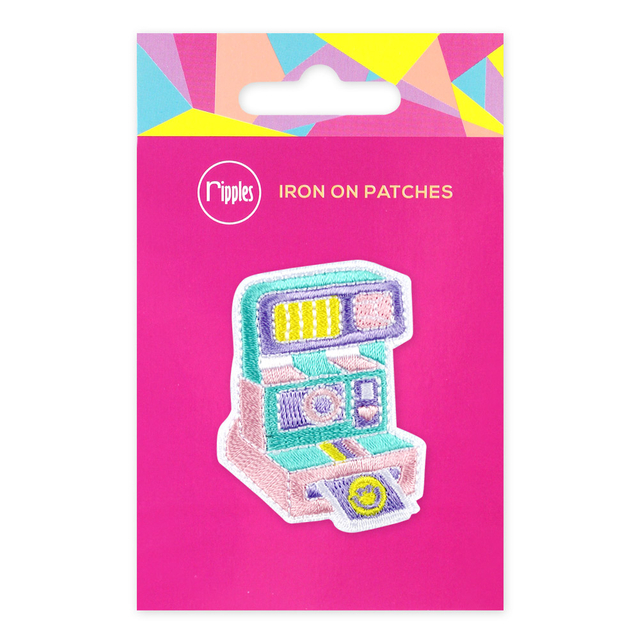 [PROMO] Polaroid Camera Iron-On Patch