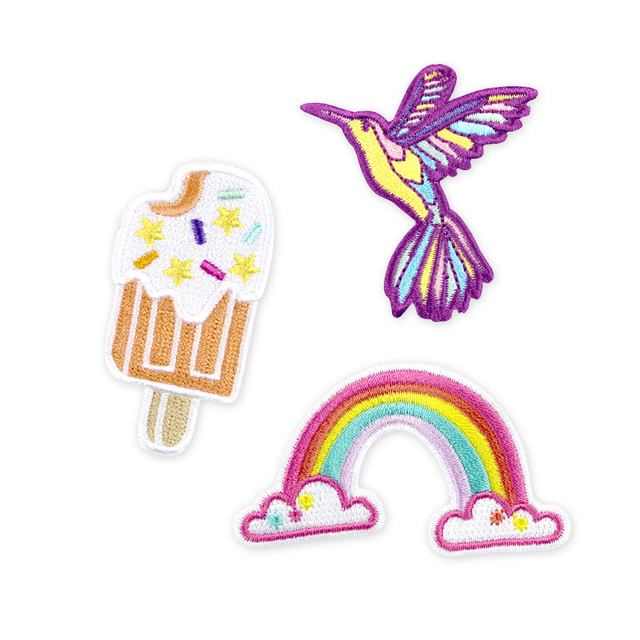 BUNDLED [3 for $10] Iron-On Patch (Popsicle, Hummingbird, Rainbow)