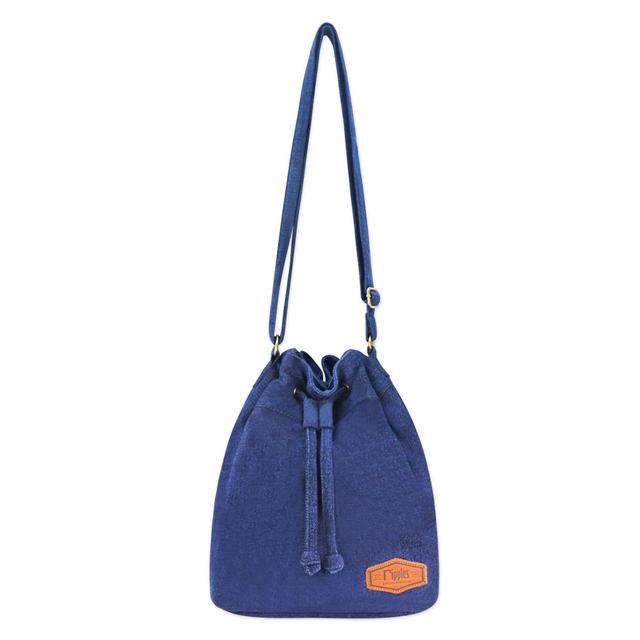 [PROMO] Chloe Basic Bucket Sling Bag (Mid Blue Wash Denim)