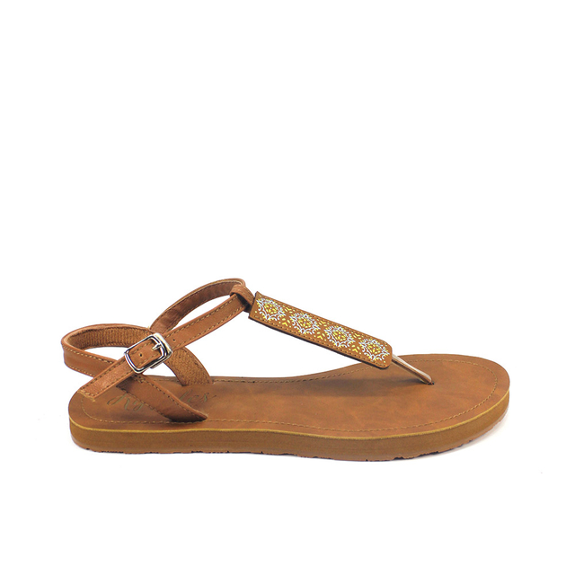 Amaris Slide'N'Style T-Bar Sandals (Daffodil Yellow)
