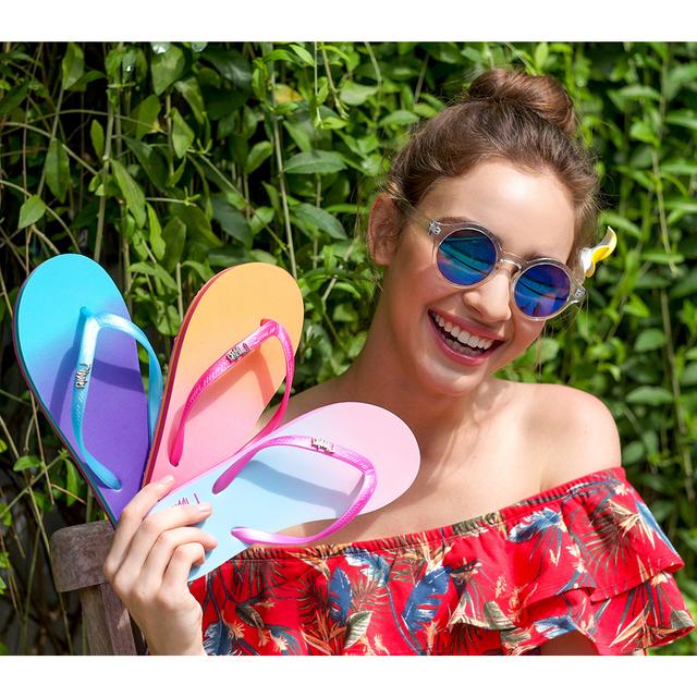 [SALE] Gradient Ladies Flip Flops (Candyfloss Pink)
