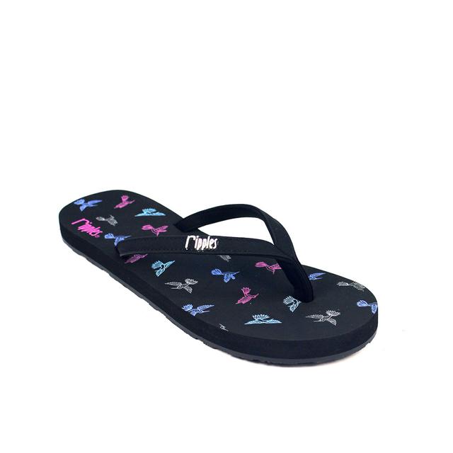 [SALE] Hummingbirds Ladies Flip Flops (Black)