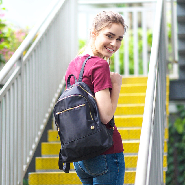 Miranda Classic Ladies Backpack (Black)