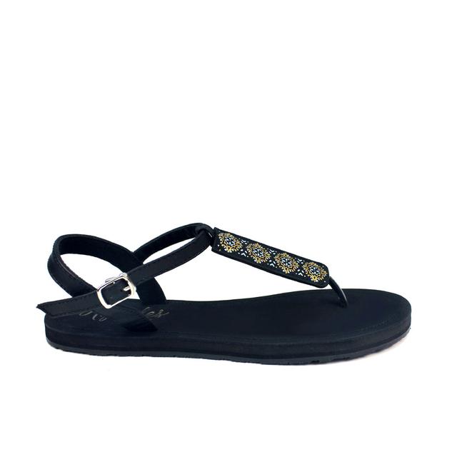 Amaris Slide'N'Style T-Bar Sandals (Midnight Glow Black)