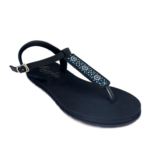Nadia Slide'N'Style T-Bar Sandals (Sapphire Blue Black)