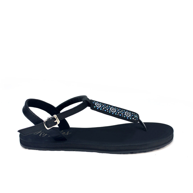 Nadia Slide'N'Style T-Bar Sandals (Sapphire Blue Black)