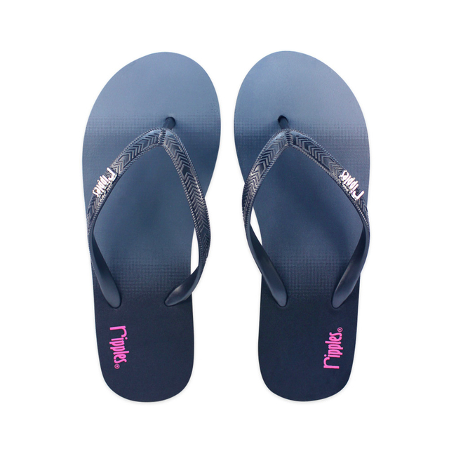 Gradient Ladies Flip Flops (Black)