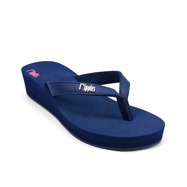 Andre Basic Classic Ladies Wedges (Navy Blue)