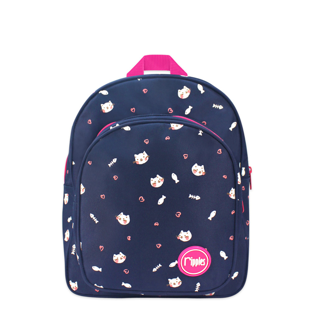 Kittens Kids Backpack (Navy Blue)