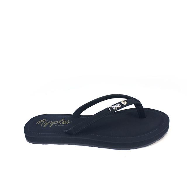 [PROMO] Pearlyn Diamond Stud Leather Ladies Sandals (Black)