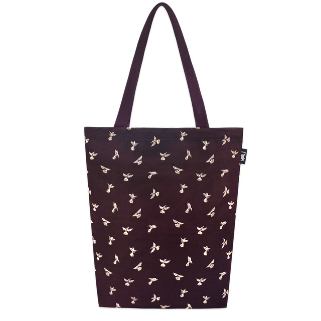 [PROMO] Hummingbirds Rectangle Tote Bag (Maroon)