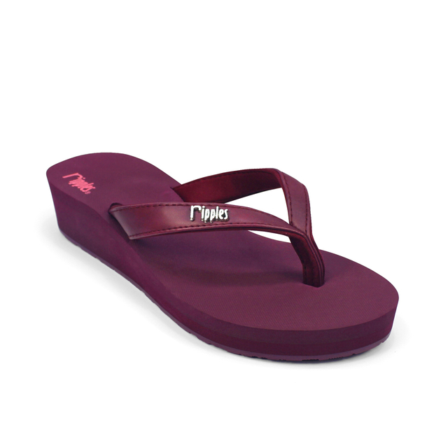 Andre Basic Classic Ladies Wedges (Maroon)