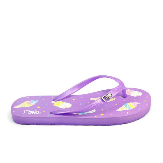 [SALE] Ice Cream Ladies Flip Flops (Purple)