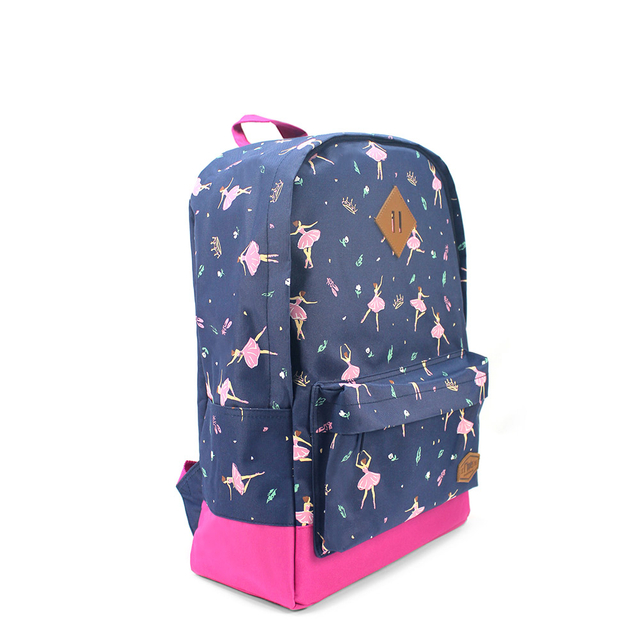 Ballerina School Backpack (Navy Blue)