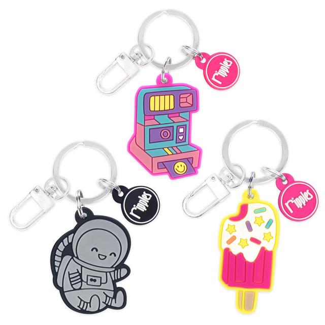 BUNDLED [3 for $10] Keychains (Astronaut/Polaroid/Popsicle)