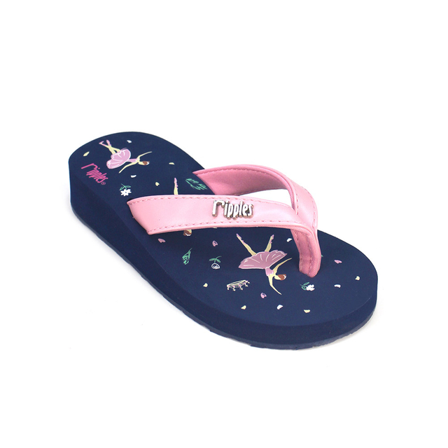 Ballerina Little Kids Wedge (Navy Blue)