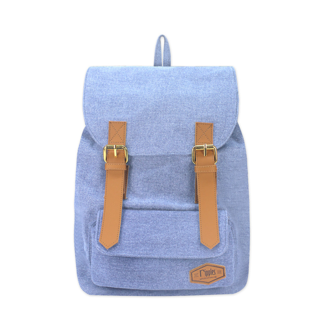 Hue Basic Ladies Backpack (Light Wash Denim)