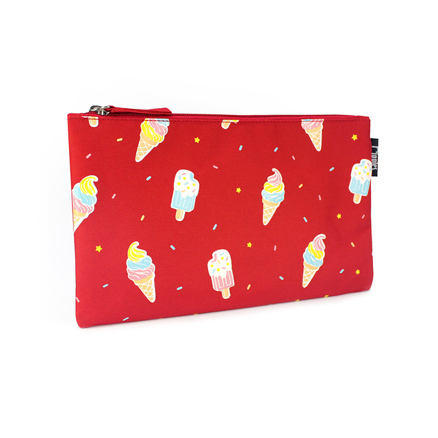 [PROMO] Ice Cream Flat Pouch (Red)