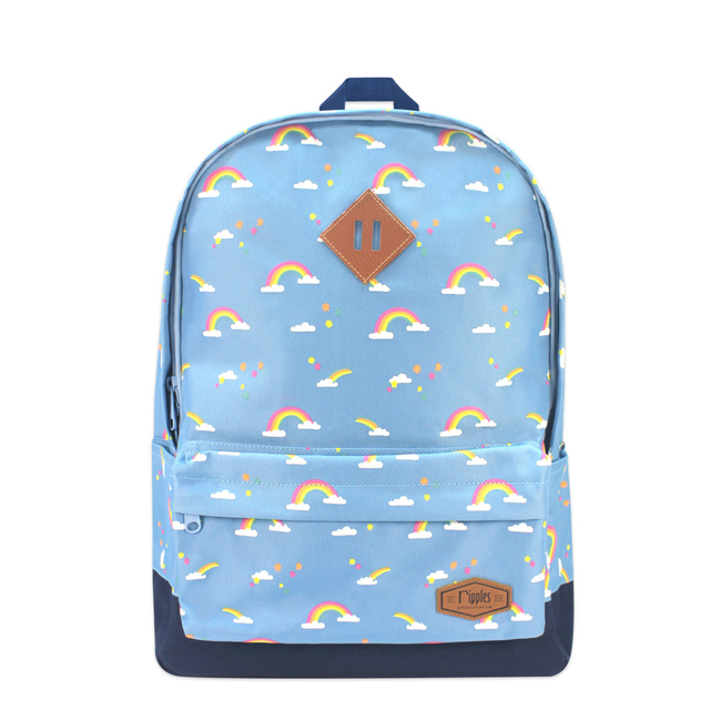 Rainbow School Backpack (Mid Blue)