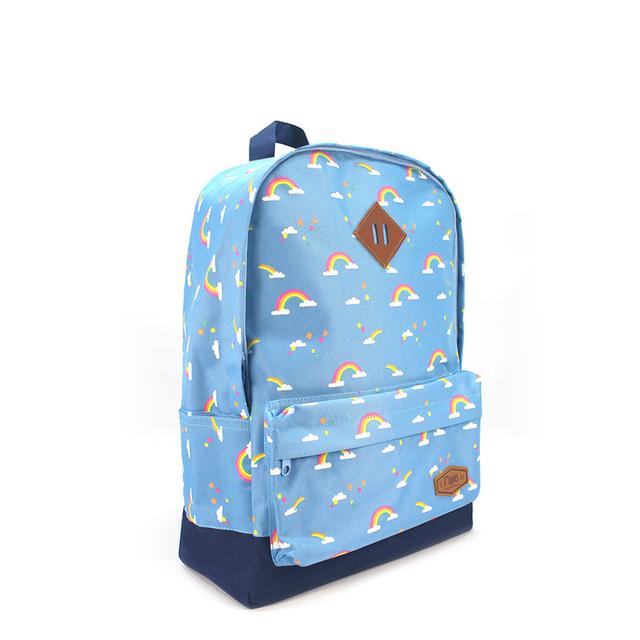 Rainbow School Backpack (Mid Blue)