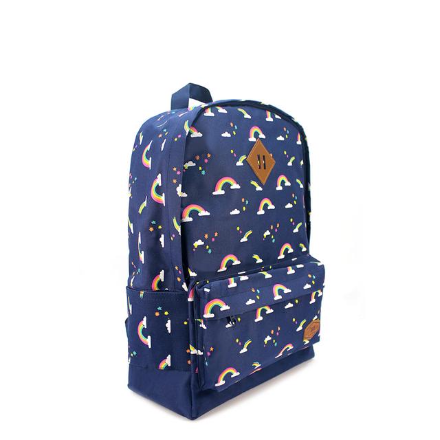 Rainbow School Backpack (Navy Blue)